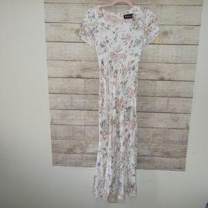 Vintage All That Jazz Floral Print Long Dress